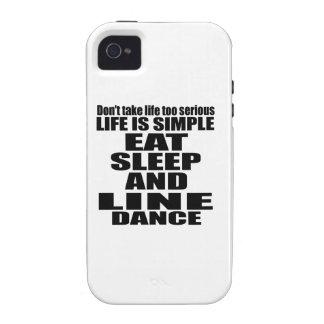 EAT SLEEP LINE DANCING iPhone 4 COVER