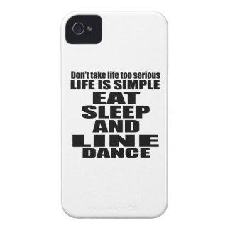 EAT SLEEP LINE DANCING iPhone 4 Case-Mate CASES