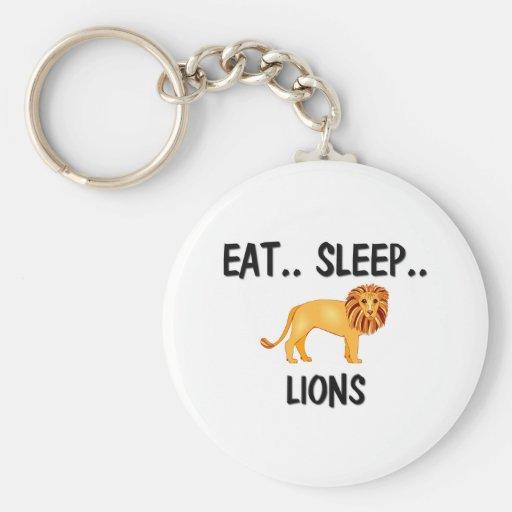 Eat Sleep LIONS Key Chains