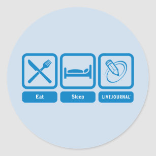 eat sleep live stickers labels zazzle uk. Black Bedroom Furniture Sets. Home Design Ideas