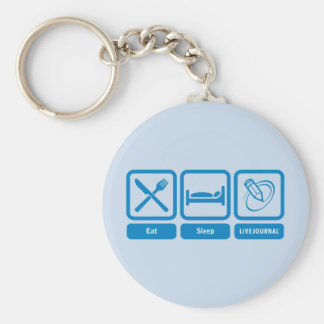 Eat Sleep LiveJournal Keychain