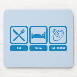 Eat, Sleep, LiveJournal Mouse Mat