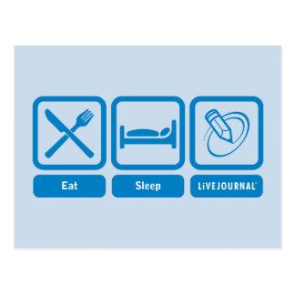 Eat, Sleep, LiveJournal Postcard