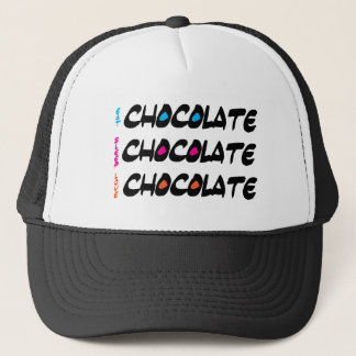 Eat Sleep Love Chocolate Trucker Hat