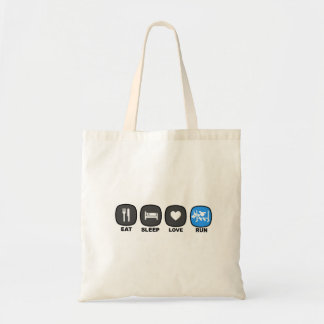 Eat. Sleep. Love. Run. Blue Tote Bag