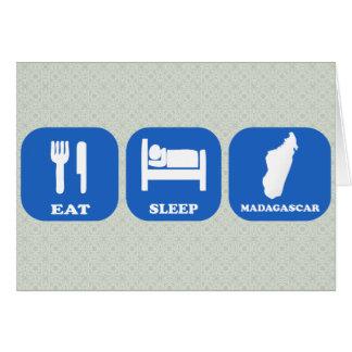 Eat Sleep Madagascar Card