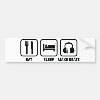 Eat Sleep Make Beats Bumper Sticker