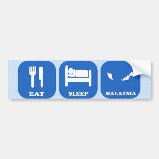 Eat Sleep Malaysia Bumper Sticker