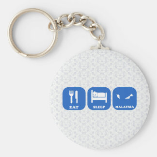 Eat Sleep Malaysia Keychain