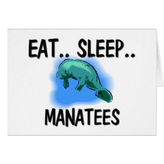 Eat Sleep MANATEES Card