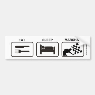 """Eat - Sleep - Marshal"" by Flagman Bumper Sticker"
