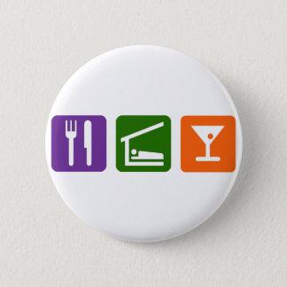 Eat Sleep Martini 6 Cm Round Badge