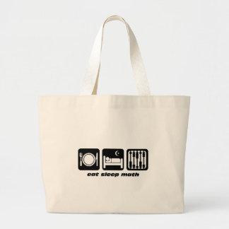 eat sleep math jumbo tote bag