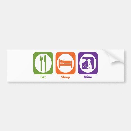 Eat Sleep Mine Car Bumper Sticker