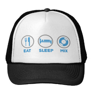 Eat, Sleep, Mix Again - DJ Disc Jockey Music Deck Hats