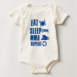 Eat sleep MMA Baby Bodysuit