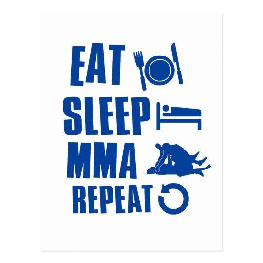 Eat sleep MMA Postcard