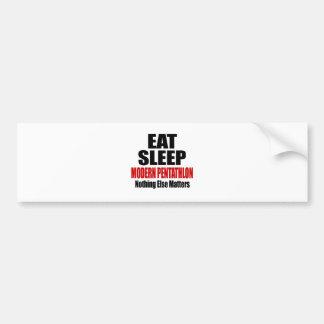 EAT SLEEP MODERN PENTATHLON BUMPER STICKER