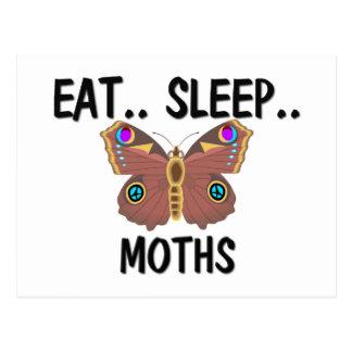 Eat Sleep MOTHS Postcard