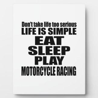 EAT SLEEP MOTORCYCLE RACING PHOTO PLAQUES