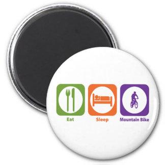 Eat Sleep Mountain Bike 6 Cm Round Magnet