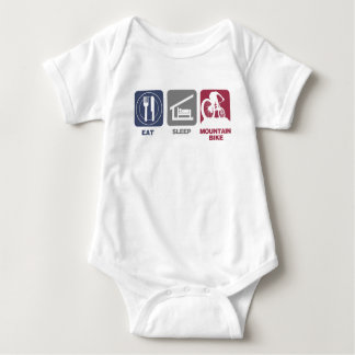 Eat Sleep Mountain Bike Baby Bodysuit