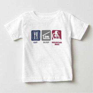 Eat Sleep Mountain Bike Baby T-Shirt