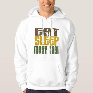 Eat Sleep Muay Thai 1 Hooded Pullover