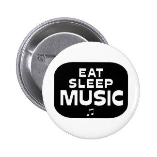 Eat Sleep Music Pins