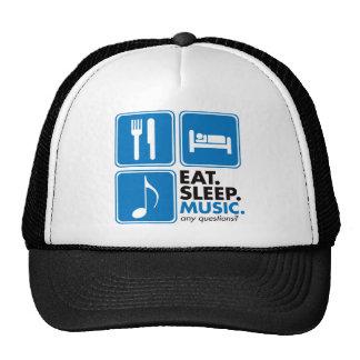 Eat Sleep Music - Blue Cap