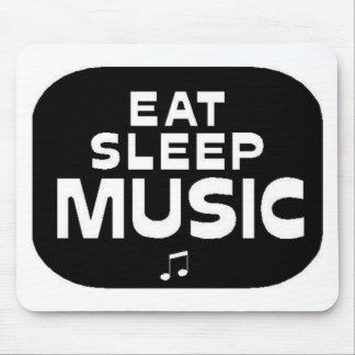 Eat Sleep Music Mouse Pads