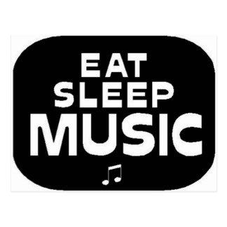 Eat Sleep Music Postcard