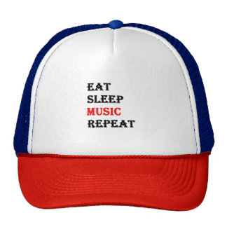Eat Sleep Music Repeat Cap