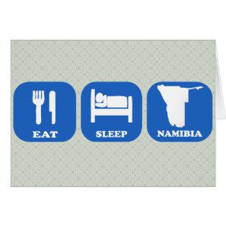 Eat Sleep Namibia Greeting Card