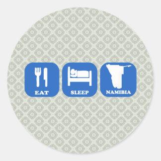 Eat Sleep Namibia Round Sticker