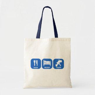 Eat Sleep Nato Canvas Bag