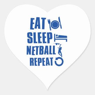 Eat sleep Netball Heart Sticker