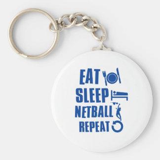 Eat sleep Netball Key Ring