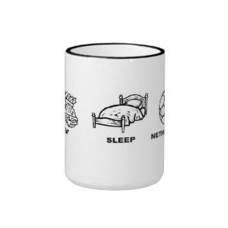 Eat sleep Netherlands Soccer Ringer Mug