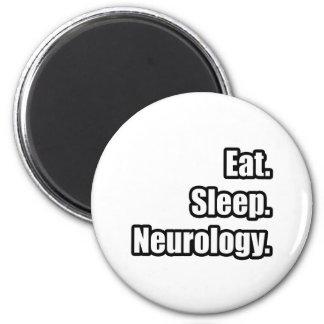 Eat. Sleep. Neurology. 6 Cm Round Magnet