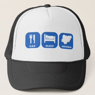 Eat Sleep Nigeria Trucker Hat