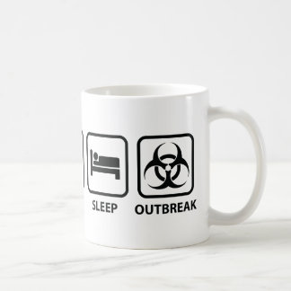 Eat Sleep Outbreak Basic White Mug