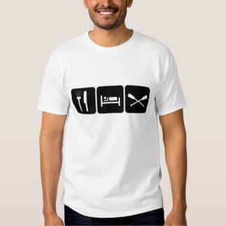 Eat sleep paddle shirts