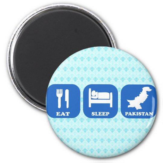 Eat Sleep Pakistan 6 Cm Round Magnet