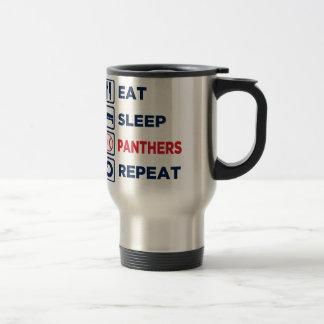eat,sleep,panthers,repeat travel mug