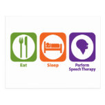 Eat Sleep Perform Speech Therapy Postcards