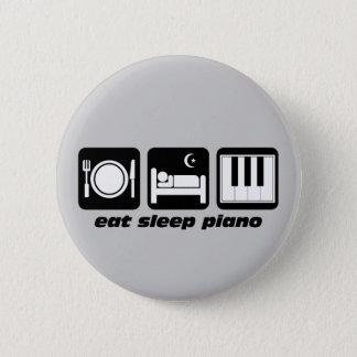 eat sleep piano 6 cm round badge