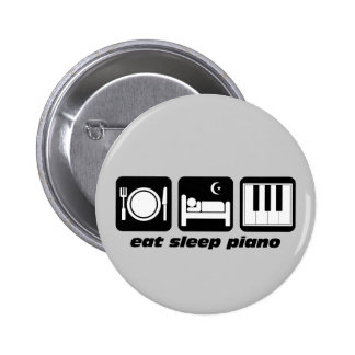 eat sleep piano buttons