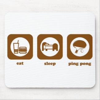 Eat Sleep Ping Pong Mousepad