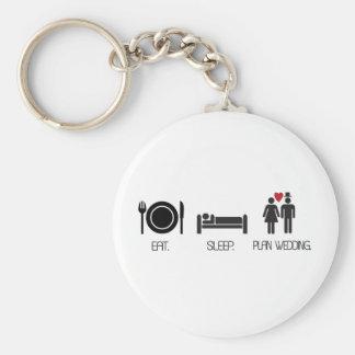 eat.sleep.plan wedding basic round button key ring